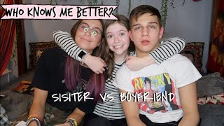 WHO KNOWS ME BETTER BF VS SISTER