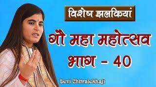 गौ महा महोत्सव भाग - 40  गौ सेवा धाम Devi Chitralekhaji