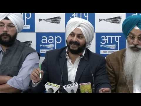 Press Conference by AAP Leaders on Corruption by BJP Officials & their ally Akali Dal in DSGMC.