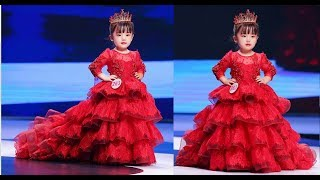 Princess / Birthday / Party / Wedding Long Gown Dresses For Girls  ( Kids Fashion Show )