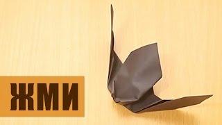 Летучая мышь из бумаги своими руками