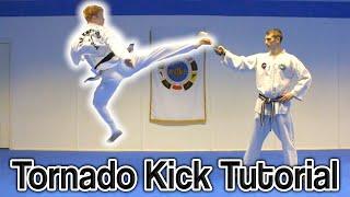 Taekwondo 360 Turning Kick/Tornado Kick Tutorial   GNT How to