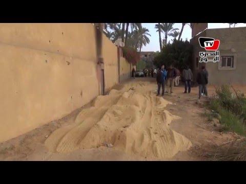 آثار طلقات نارية في موقع حادث استشهاد رئيس قسم مرور المنيب