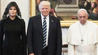 Melania and Ivanka Trump Wear Black Veils to Meet Pope Francis