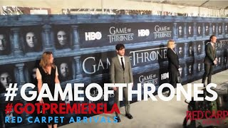 Game of Thrones Season 6 Premiere Cast & Celebrity Arrivals #GameOfThrones #GoTPremiereLA