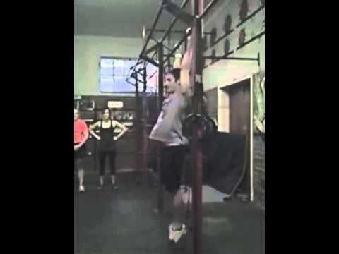Kipping pull-up in slow motion