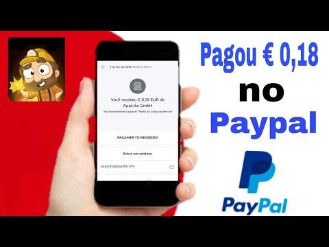 PAGOU € 0,18 EUROS no Paypal jogando e convidando amigos