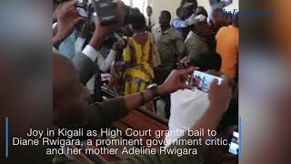 Joy as Kigali court frees Rwigaras on bail- VIDEO