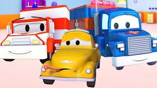 Трансформер Карл и Скорая помощь   Мультик про машинки и грузовички (для детей)