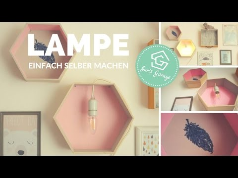 Lampe selber bauen - Kinderlampe DIY - Kinderzimmer Deko - Kidsroom -  Anleitung - Kinder Ideen