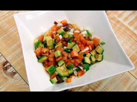 Ensaladilla de aguacate, tomate y anchoas - Karlos Arguiñano