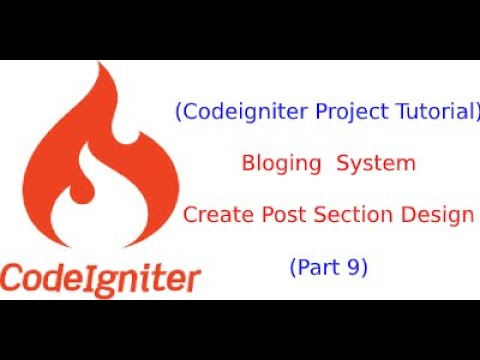 codeigniter project tutorial in hindi   blogging system in php   Part 9