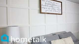Accent Wall - Totally Transform A Boring Blank Wall With This Beautiful Accent Wall Idea! | Hometalk