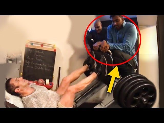[Video] భాయి బస్కీలకు భద్రతా సిబ్బంది సాయం