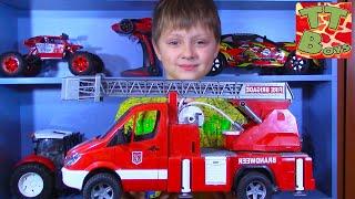 Брудер Машинки Обзор Игрушек Игорек и Арина Видео для детей BRUDER CARS TOYS