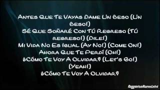Daddy Yankee Ft. Tony Dize - La Despedida (Letra)