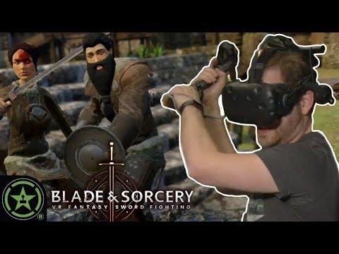 NO TECHNIQUE, JUST STAB  - Blade and Sorcery | VR The Champions