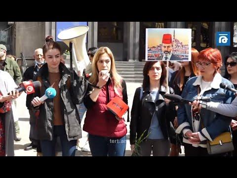 «ՎԵՏՕ» շարժման աղջիկների նախաձեռնած #նախ_տղամարդ_եղեք կարգախոսով ակցիան