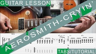 Aerosmith, Cryin' COMPLETE Guitar Lesson, Solo, Chords, Riffs, Licks, Harmonica, Guitarra