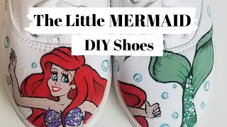 DIY DISNEY INSPIRED // HANDPAINTED CANVAS SHOES