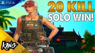 INSANE 20 KILL SOLO WIN! PUBG PS4 GAMEPLAY (PS4 PRO)