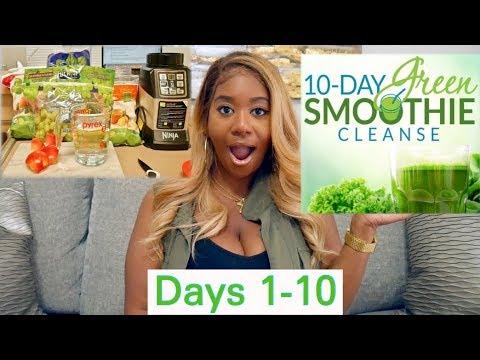 JJ SMITH 10 DAY SMOOTHIE CLEANSE - VLOG DAYS 1-10 | POCKETSANDBOWS