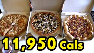 "Pizza Hut's $49 ""Superbowl"" Deal Challenge (12,000 Calories)"