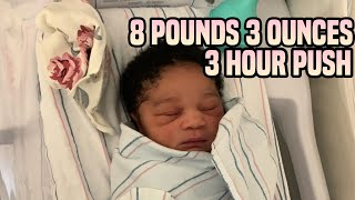 LABOR AND DELIVERY BIRTH VLOG | During Pandemic *8 POUND BABY! *Epidural