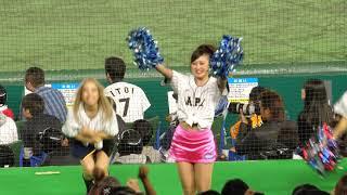 チアもスクワットw侍ジャパン広島カープ西川応援歌@アジアプロ野球チャンピオンシップ