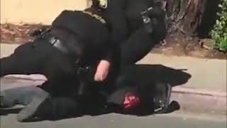 Cops Slam Handcuffed Man Onto The Sidewalk & Punch Him In The Face