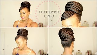 FLAT TWIST UPDO (protective Style)