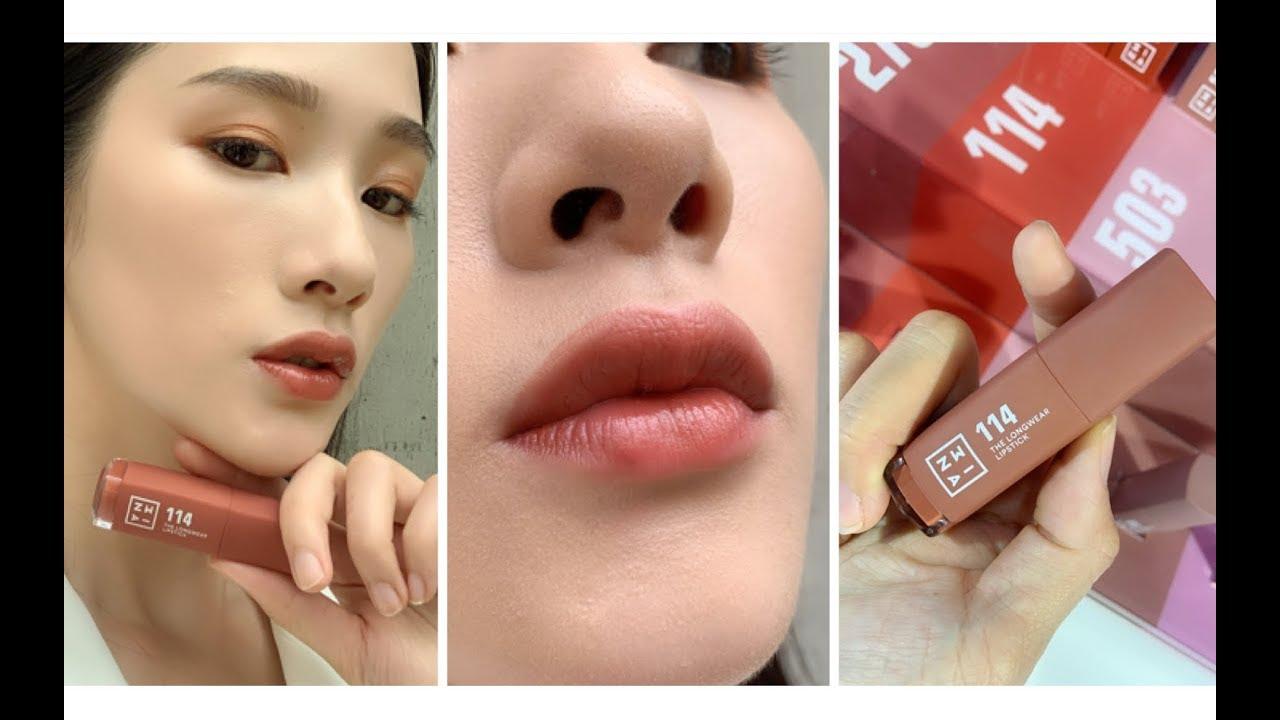 3INA「微刺青印色唇釉」衛生紙按壓實擦也不掉色!太厲害!