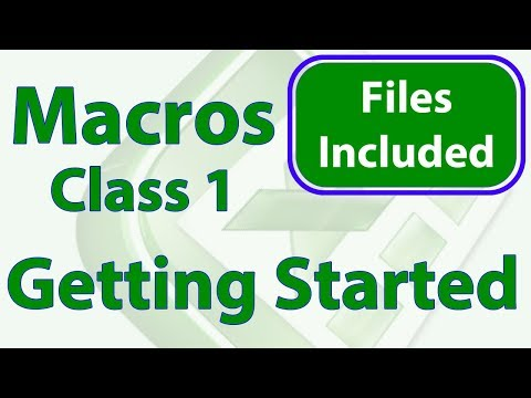 Excel Macro Class 1 - Getting Started Programming Macros - YouTube