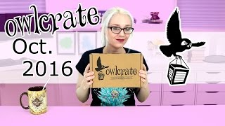 Owlcrate Unboxing October 2016
