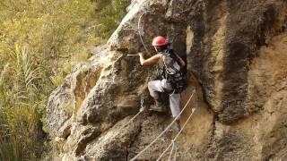 preview picture of video 'Via Ferrata de Peñas Juntas (Bierge, Aragon)'
