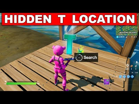 "Search the Hidden ""T"" in the Trick Shot Loading Screen - Location Fortnite Chapter 2 Season 1"