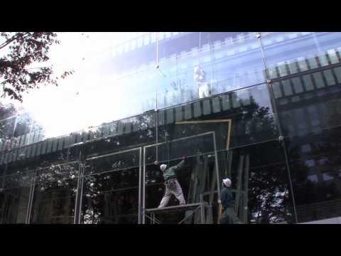 sendai mediatheque: Restoration of a Piece of Large Glass