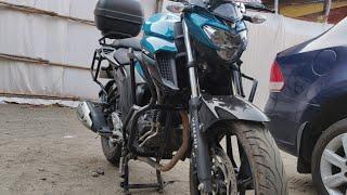 Yamaha FZ25 Crash Gurds , Saddle Stay And Top Ladguge Rack ( Touring Setup )