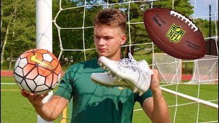 Can you play soccer in American football cleats?