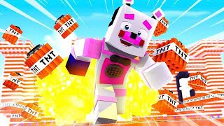 Funtime Freddy is The Master of TNT! Minecraft FNAF Roleplay