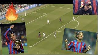 BARCA FAN REACTS TO Ronaldinho - Football's Greatest Entertainment