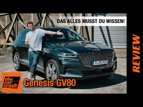Genesis GV80 im Test (2021) So viel Luxus SUV gibt es ab 62.200€! 😱 Fahrbericht   Review   3.0 D AWD