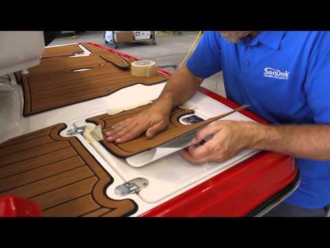 Installing a SeaDek pad on a Monterey 214 SS