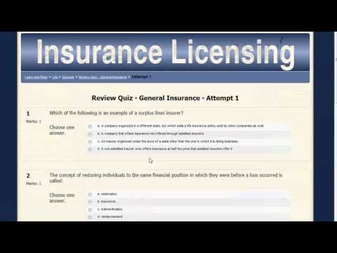 Insurance License Training Online - YouTube