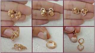 Simple Light Weight Gold Earring Design / Daily Wear Gold Earring Design