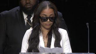 Nipsey Hussle Memorial: Watch Lauren Londons Emotional Tribute