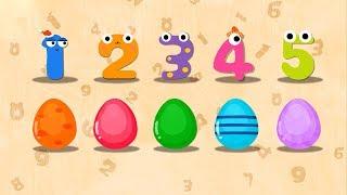 Bé học đếm số từ 1 đến 10 thật vui, hấp dẫn và bổ ích - Bé tập tô màu từ 1 đến 10