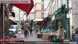 preview picture of video 'Paris, France - Video tour of a vacation rental on rue Mouffetard'