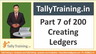 preview picture of video 'Tally ERP 9 Tutorial in Hindi - Part 7/200 - Creating Single Ledgers'
