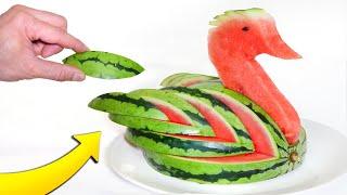 I Made an Amazing Watermelon Swan thumbnail